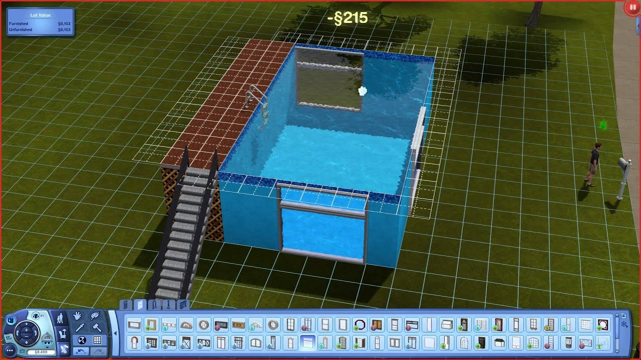 The sims 3 how to build a above ground pool with windows - How to build an above ground pool ...