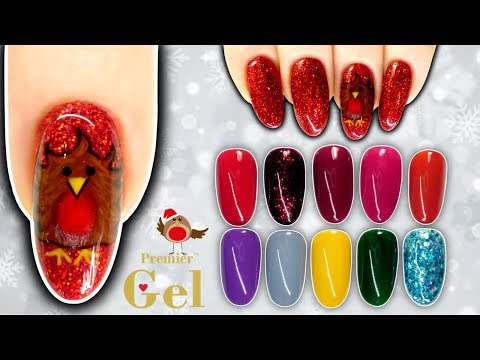 Cute Robin Nail Art & Premier Gel Christmas Collection 2019
