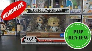 STAR WARS MOVIE MOMENTS TRASH COMPACTOR ESCAPE LUKE LEIA WALMART EXCLUSIVE FUNKO POP UNBOXING REVIEW