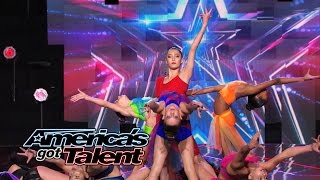 AcroArmy: Acrobatic Group Creates Cool Visuals With Dangerous Act - America's Got Talent 2014