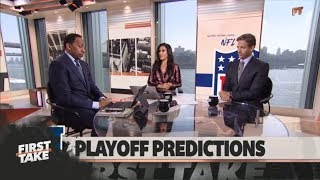 Stephen A., Max make their early NFL playoff predictions | First Take | ESPN