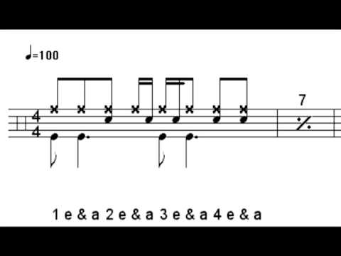 Ritmos básicos de batería para Rock y Pop (Parte 2)