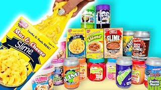Food Slime MEGA HAUL! Mac & Cheese And Chili Slime? Doctor Squish