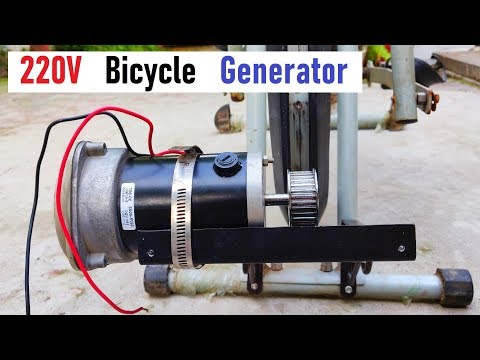 Amazing Idea ! 220v Electric Bicycle Generator from 500W DC Motor - Part 1