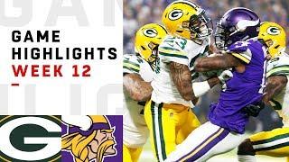 Packers vs. Vikings Week 12 Highlights | NFL 2018