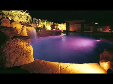 Phoenix Swimming Pool Builder | Your Pool at Night  | Call Us (602) 532-3800