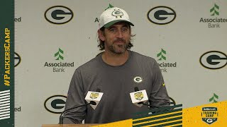 Packers QB Aaron Rodgers | 2021 Training Camp | Full Press Conference