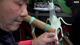 Nghệ thuật thổi kẹo đường cực đẹp - am thuc duong pho nhat ban