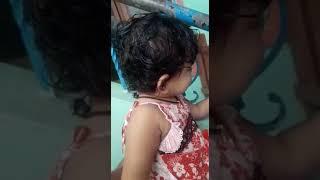 Cute little baby learning words