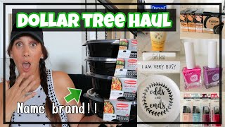 DOLLAR TREE HAUL ** NEW SHIPMENT FINDS** NAME BRAND TUPPERWARE?!