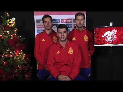 La Selección Española te desea Feliz Navidad y Prospero Año Nuevo