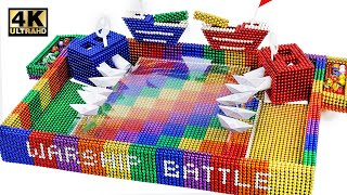 DIY - How To Make Marble Warship Battle Game from Magnetic Balls (Satisfying) | Magnet World 4K