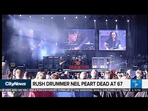Music world mourns death of Rush drummer Neil Peart