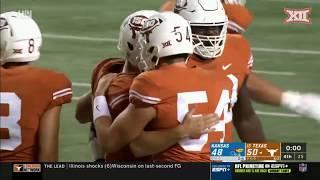 Kansas at Texas Football Highlights