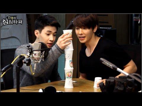신동의 심심타파 - Super Junior M Henry & Donghae, mission - 슈퍼주니어 M Henry & Donghae, 종이컵 쌓기 미션 20140407