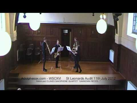 WSCXVI RAHA and CLUNES SAXOPHONE QUARTET  UNKNOWN PIECES