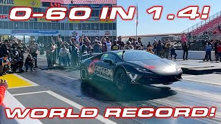 3,000+ HP Lambos at TX2K * AMS sets World Record Huracan 1/4 Mile * 0-60 MPH in 1.4 seconds