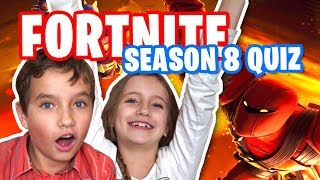 Kids react to FORTNITE SEASON 8 DANCE EMOTE QUIZ Challenge
