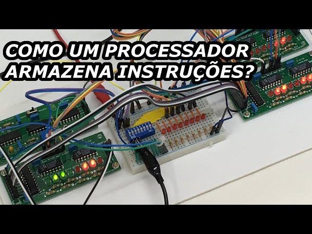ENTENDA COMO UM PROCESSADOR ARMAZENA INSTRUÇÕES | Computador de 8 bits em PCBs