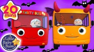 Wheels On The Bus Halloween + More Nursery Rhymes | Little Baby Bum
