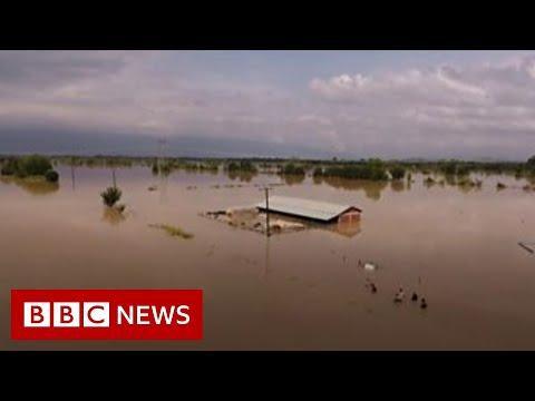 Cyclone Ianos: Drone shows 'medicane' damage in Greece - BBC News