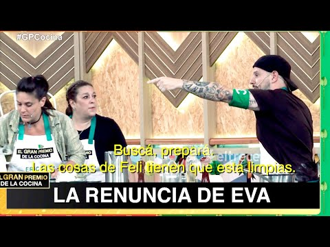 Eva tuvo roces con Martín y renunció a El gran premio de la cocina
