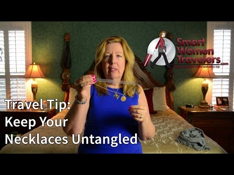 Travel Tip: Keep Your Necklaces Untangled