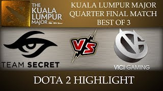 Secret vs VG Vici Gaming Kuala Lumpur Major 2018 Dota 2 Highlights [11-Nov-2018]