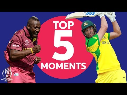 Russell? Coulter-Nile? Starc? | Australia vs Windies - Top 5 Moments | ICC Cricket World Cup 2019