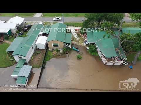 5-22-2019 Webbers Falls, OK - Drone Flooding Town Evacuating