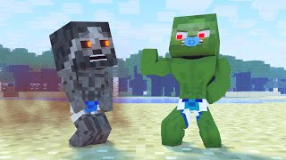 Best Children's Story | Strong kid | Minecraft animation Life of Zomma & Zombo