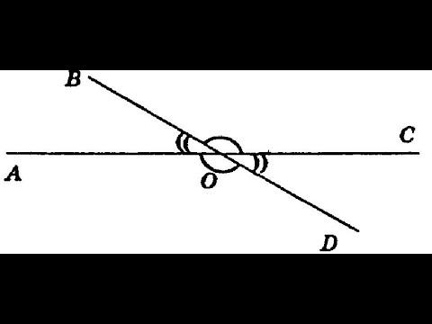 Вертикальные углы. Геометрия 7 класс. Эта же тема в дальнейшем изучении.