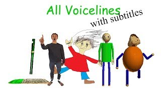 All Voicelines with Subtitles | Baldi's Basics in Education and Learning (v1.2)