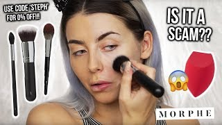TESTING MORPHE BRUSHES! IS IT A SCAM OR ARE THEY WORTH YOUR $$$? REVIEW + FIRST IMPRESSIONS