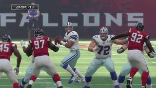 NFL Week 10 - Dallas Cowboys vs Atlanta Falcons - Madden 18 Gameplay