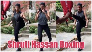 Tollywood beauty Shruti Haasan boxing video goes viral..
