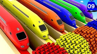 Learn Colors with Bullet Train for Kids | Colors for Children to Learn with Toy Trains Education 3D