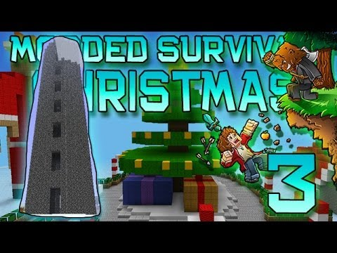 Minecraft: Modded Christmas Survival Let's Play W/Mitch! Ep. 3 - BATTLE TOWER! - Smashpipe Games