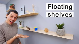 How To Make Super Strong and Thin Floating Shelves
