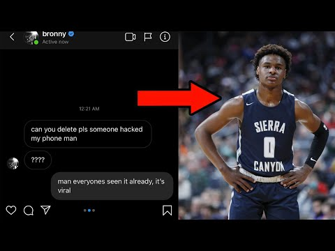 BRONNY JAMES LEAKS CONTROVERSIAL VIDEO
