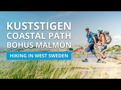 One stage of the Kuststigen Coastal Path in Bohuslän, West Sweden, takes you out on the island of Bohus Malmön. Here you will find plenty of well-kept swimming spots and popular sandy beaches. The trail is about 10 kilometres long and therefore perfect for a day trip.  Interested in hiking here? Look here for further information:  https://www.vastsverige.com/en/nature-experiences/walking/?utm_source=youtube&utm_medium=videoinfo&utm_campaign=youtube   Welcome to West Sweden!
