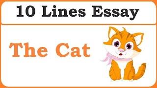 "Write few lines on ""MY PET CAT"" in easy words."