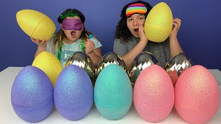 GIANT Easter Egg SLIME Switch Up Challenge