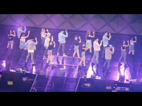 트와이스 (TWICE) + GOT7 (콜라보) 딱 좋아 Just right [풀버전] (full Ver.) 4K 직캠 Fancam (JYP NATION) by Mera