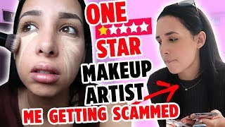 I WENT TO THE WORST REVIEWED MAKEUP ARTIST ON YELP IN MY CITY - I WAS SCAMMED!! | Mar