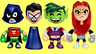 Teen Titans Go! Toy Surprises With Robin, Raven, Starfire, Cyborg & Beast Boy