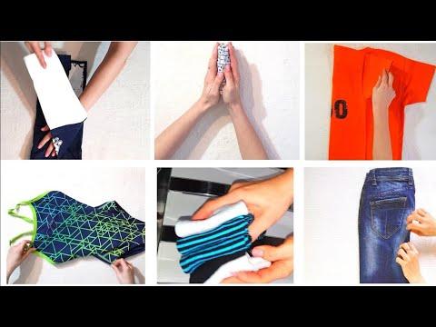 Как СЛОЖИТЬ ВЕЩИ КОМПАКТНО в шкаф по методу КонМари. КАК складывать одежду в ЧЕМОДАН в кармашек. photo