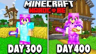 I Survived 400 Days in HARDCORE Minecraft...