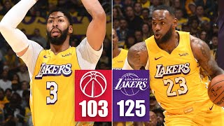LeBron James, Anthony Davis combine for 49 points, 13 assists vs. Wizards | 2019-20 NBA Highlights