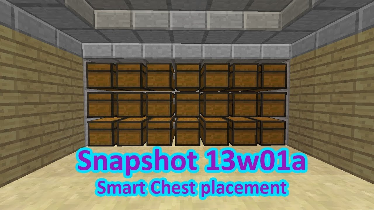 Easily Double Your Storage Space Minecraft Snapshot